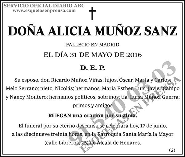Alicia Muñoz Sanz